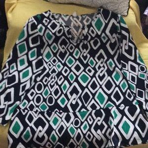 Multi color dressy top